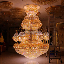 Luxury LED Control Big Size Guangzhou Chandelier Crystal Drop for Villa