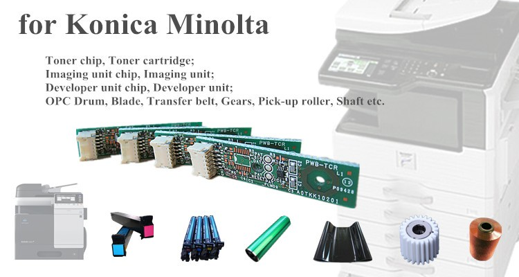 for Konica Minolta Bizhub 160 161 DI1610 toner cartirdge TN113 reset chip