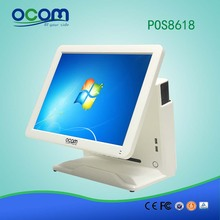 POS8618: cheap touch screen pos terminal software system cash register machine all in one computer PC