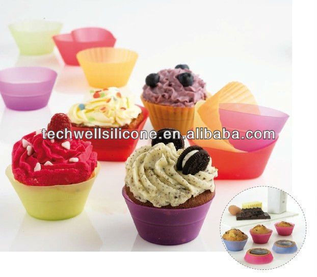 factory wholesale silicone cupcake moulds