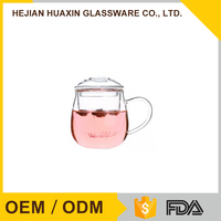 Clear Microwave Safe Fancy Tea Glass Cup