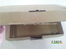 Customized wax corrugated cardboard packaging box