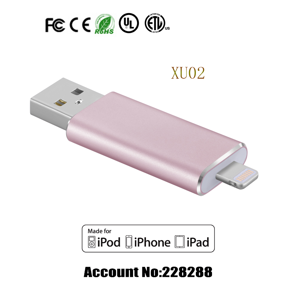 Famous Gmobi OTG MFi Metal USB Flash Drive 128GB Made For iPhone, iPad, New MacBook 12' with File