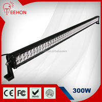 300w 52 inch bar led light bar aluminum housing led driving light for offroad