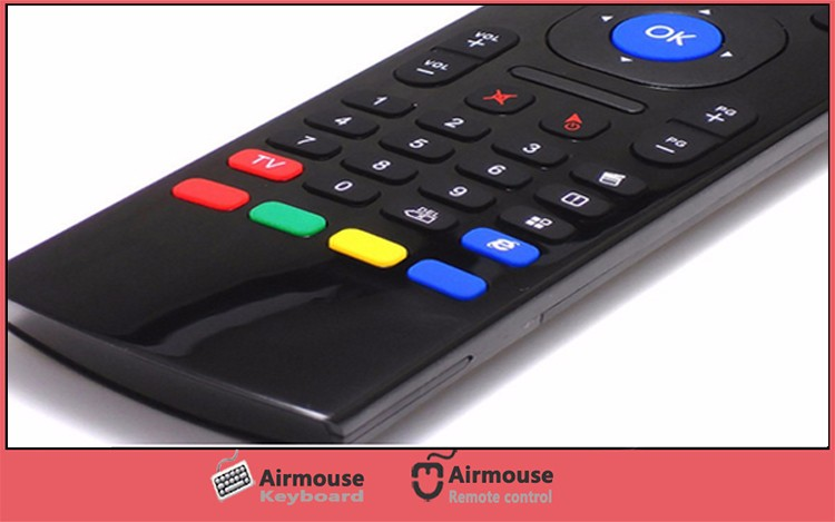 Top Quality Wireless Remote Control 2.4G Mini Keyboard MX3 Air Mouse for Android TV Box