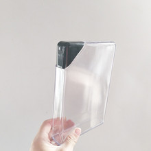 450ml/16oz plastic rectangle <strong>flat</strong> paper bottle Easy to carry BPA free portable plastic notebook transparent