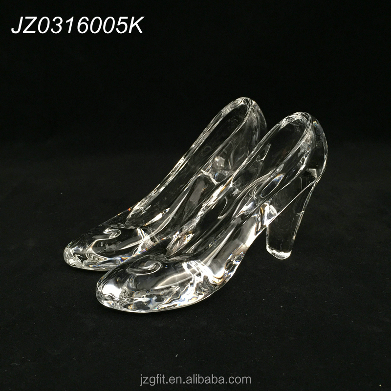 New design hot sale elegant crystal high-heeled shoes-clear, crystal crafts, crystal wedding gift