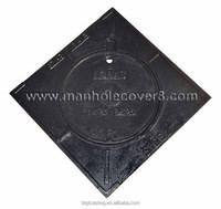 Gutemala cast iron square B125 sidewalk rain manhole cover