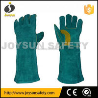 good price cow split leather welding gloves with thread kevlar