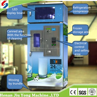 2016 Hot sale automatic milk vending machine by coins, bills, IC card