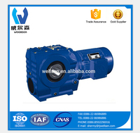SA series helical worm gear box speed reducer
