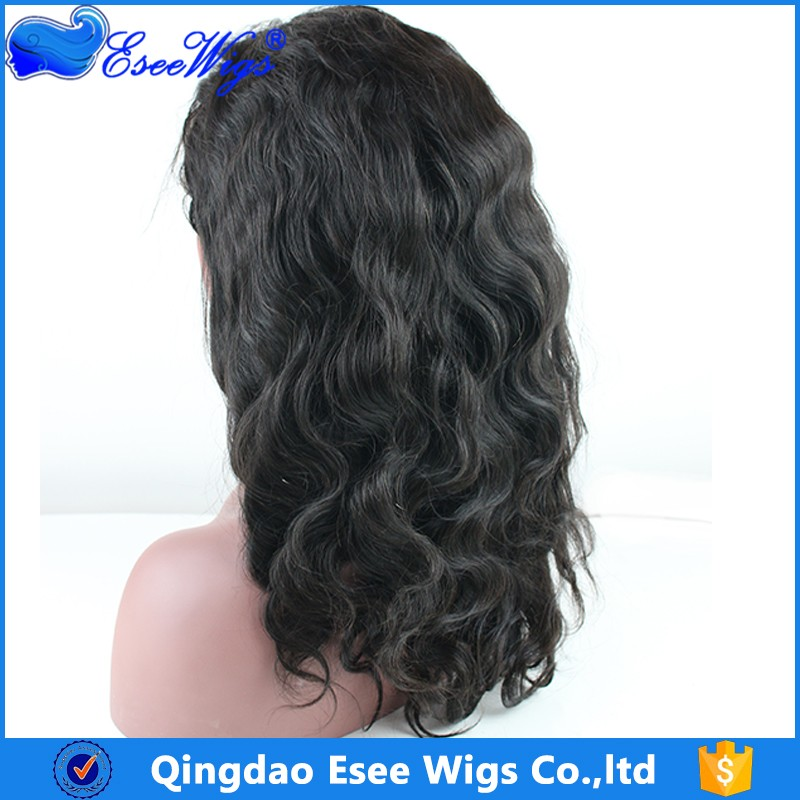 2017 New Style Lace Around Virgin Brazilian Human hair 360 Lace Wig 180 Density