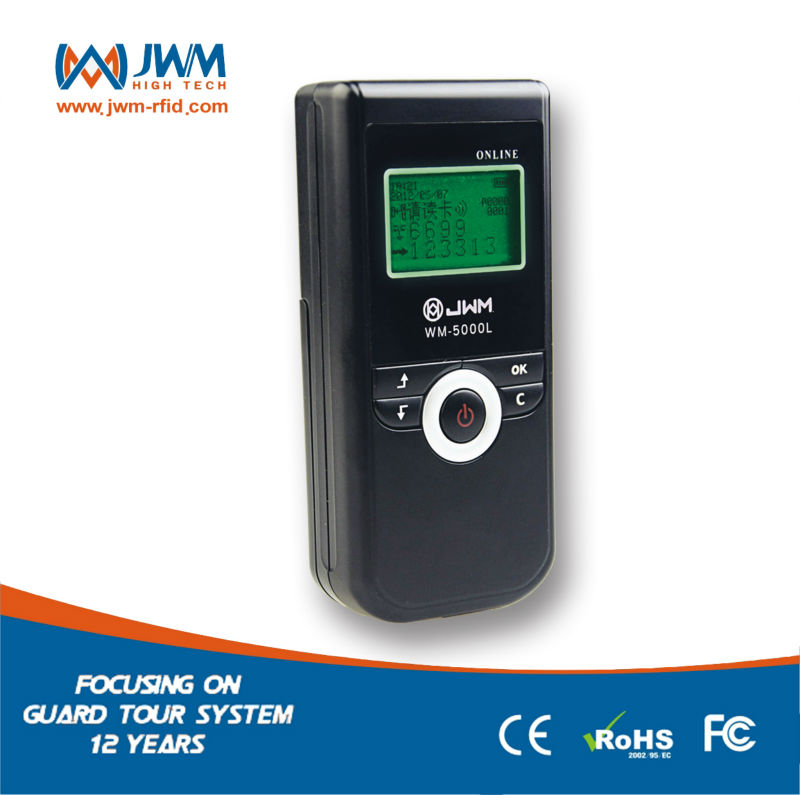 GSM GPRS Guard Tour Patrol and Check Point Monitoring System with RFID Scanner and LCD display