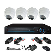 2017 New Product 4CH 720P Cleaning Camera and DVR DIY Security Kit CCTV Camera AHD