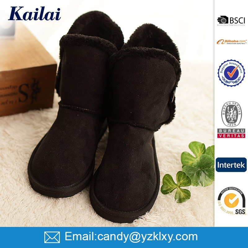 unique custom brand name faux suede women winter shoes boot