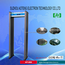 hot selling Walk through metal detectors gate with two LED light bars on both door panel for airport Model No:AT-200