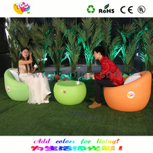 Rotomolding multy-color table and chair PE material plastic feet for outdoor furniture