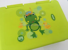 new Fancy thermo print BPA free kid plastic lunch box for family