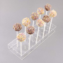 Clear Acrylic Lolly Stick Holder Cake Pop Stand Perspex Display Stand with 30 x 6mm holes