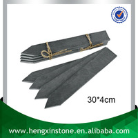 Factory Direct Price Handmade Decorative Arrow Shape 30*4cm Cut Edge Black Stone Plant Label Cheap Plant Marker For Garden