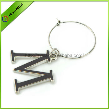 useful high quality tiny metal flamengo letters bar wine charms