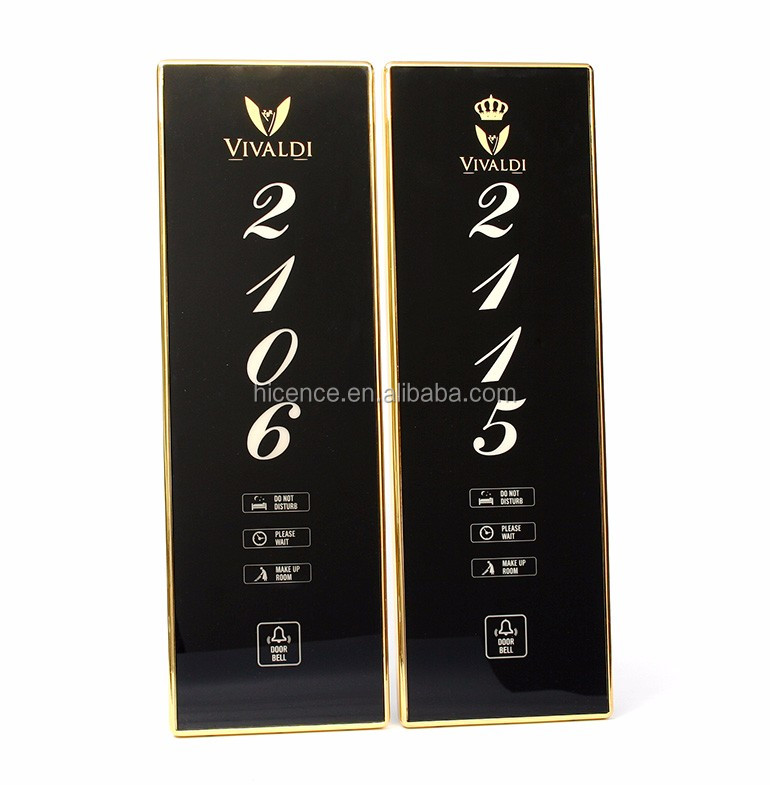 Luxury DND MUR Doorbell included Hotel Room Number Doorplate System