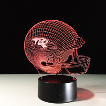 ZOGIFT NFL Helmet 3D Optical illusion lamp 7 RGB Light Colors amazing nfl 3d lamp
