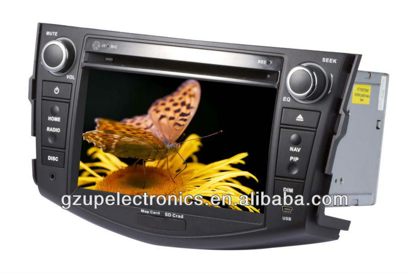 dual zone 7 inch special car multimedia player for toyota RAV4 GPS BT IPOD steering wheel control