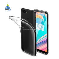 Luxury Slim Fit Crystal Clear Soft TPU Flexible Case Anti-shock Cell Phone Cover for OnePlus 5t Case