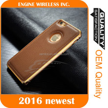 2016 guangzhou cell phone aluminum bumper case for oppo neo 5 back cover leather case