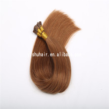 Silky straight wave 0.5g 0.8g 1g per strand 100% human hair extension prebonded I-tip virgin brazilian hair