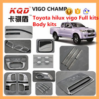chrome full set for toyota hilux body kit universal rear roof spoiler full chrome kits car accessories for toyota hilux