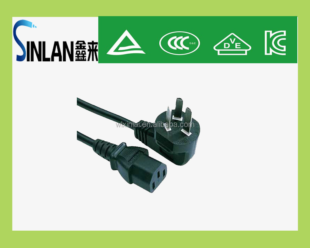 VDE CCC standard 3 pins power plug Chinese power plugs