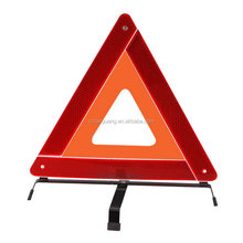 Customized promotional warning triangle and reflective vest