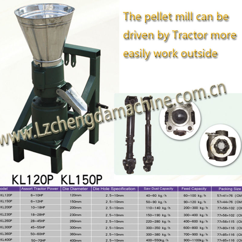 animal feed processing machine small PTO tractor drive pellet mill