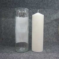 7 days memorial glass candle