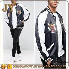 New design silk bomber jackets embroidered bomber jacket from China clothing factory