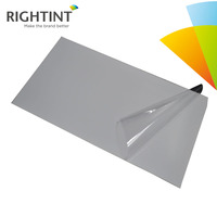 High quality clear self adhesive pvc transparent film for label sticker