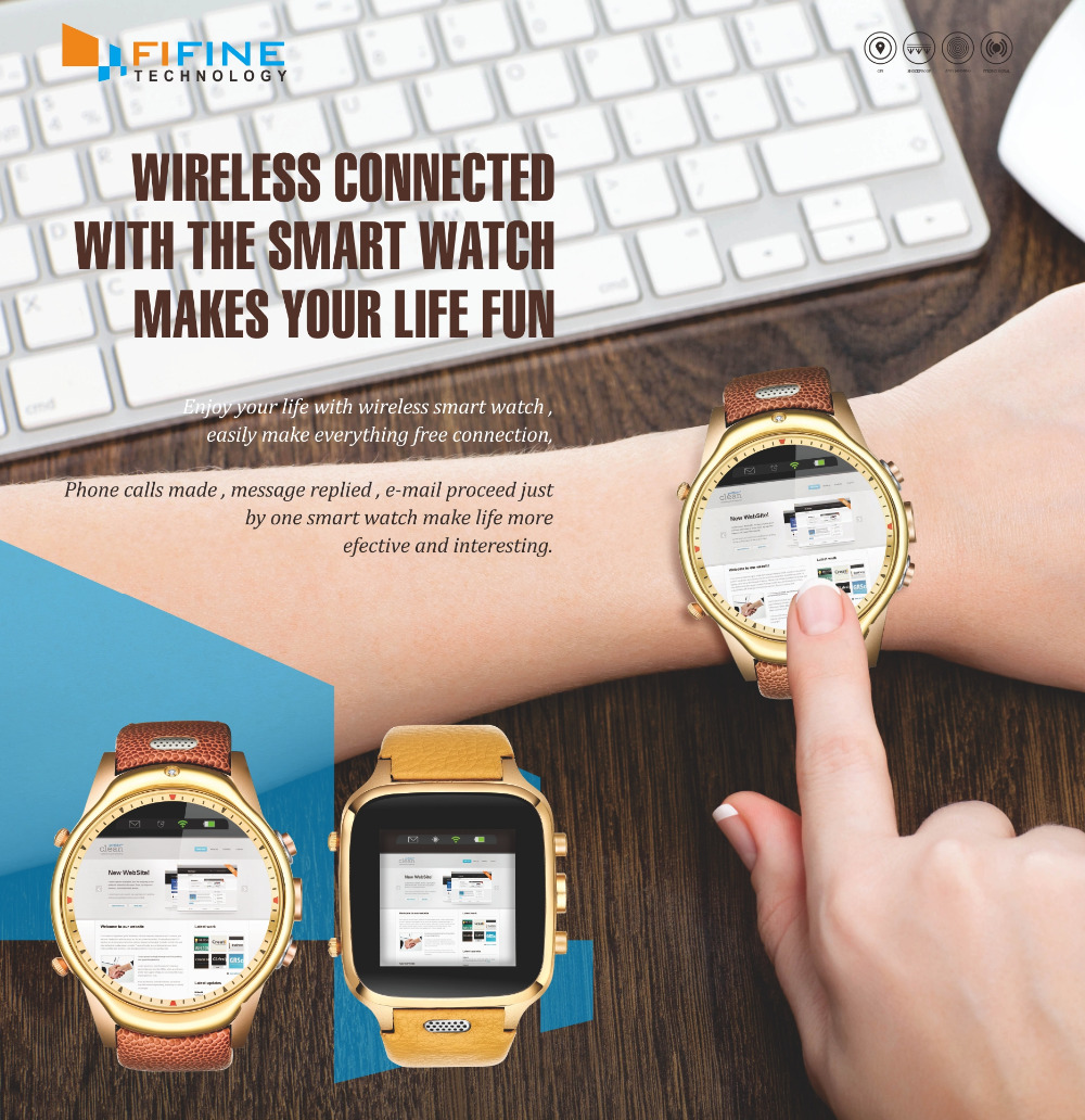 Best usa wholesale 3G gps Android 4.4 wifi wrist watch cell phone watch