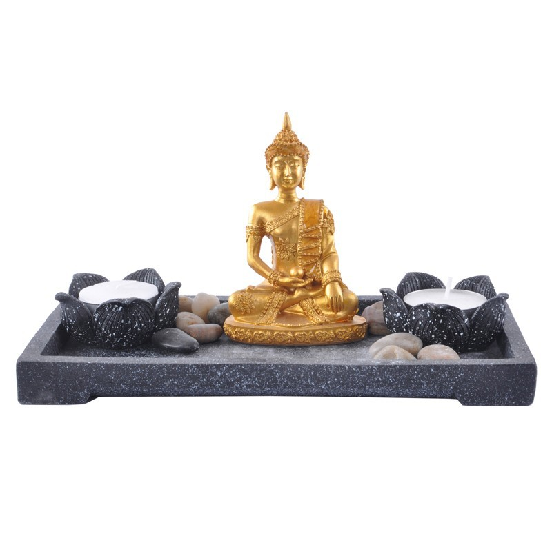 Resin Crafts Black Mini Zen Garden Buddha Statue 14007   Buy Zen Garden,Buddha  Statue,Resin Crafts Product On Alibaba.com