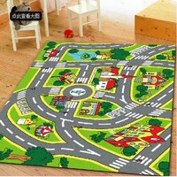 Education Kids Table Mats with Nylon Pile
