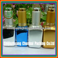 50ml square spa oil glass bottle with spray cap different color
