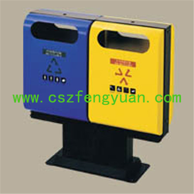 Durabledustbin with logo street furniture dustbin for public use