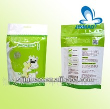 Reusable stand up zipper packaging for dog food