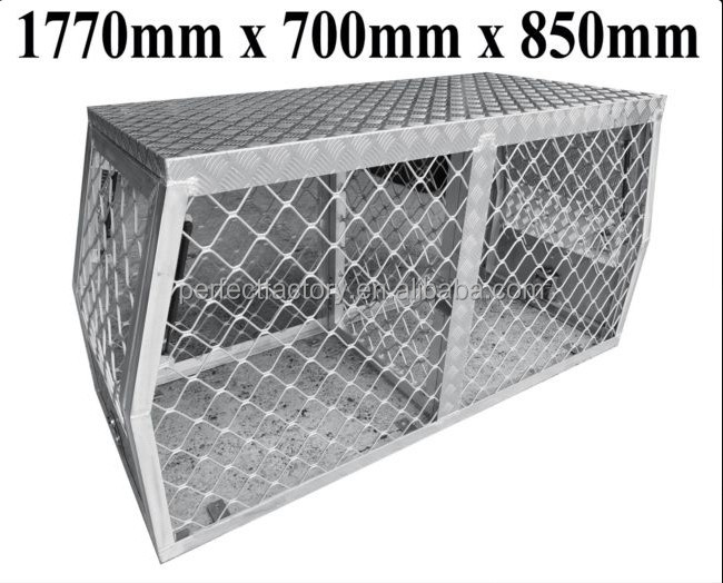 Heavy Duty large Aluminium Ute Dog Cage / Box