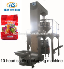 HS6240B high-efficiency digital pillow sealing candy and apple slices weighing packaging machine