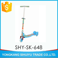CE approved 3 wheel kick scooter,flash light kick scooter for kids,Wholesale stock scooter