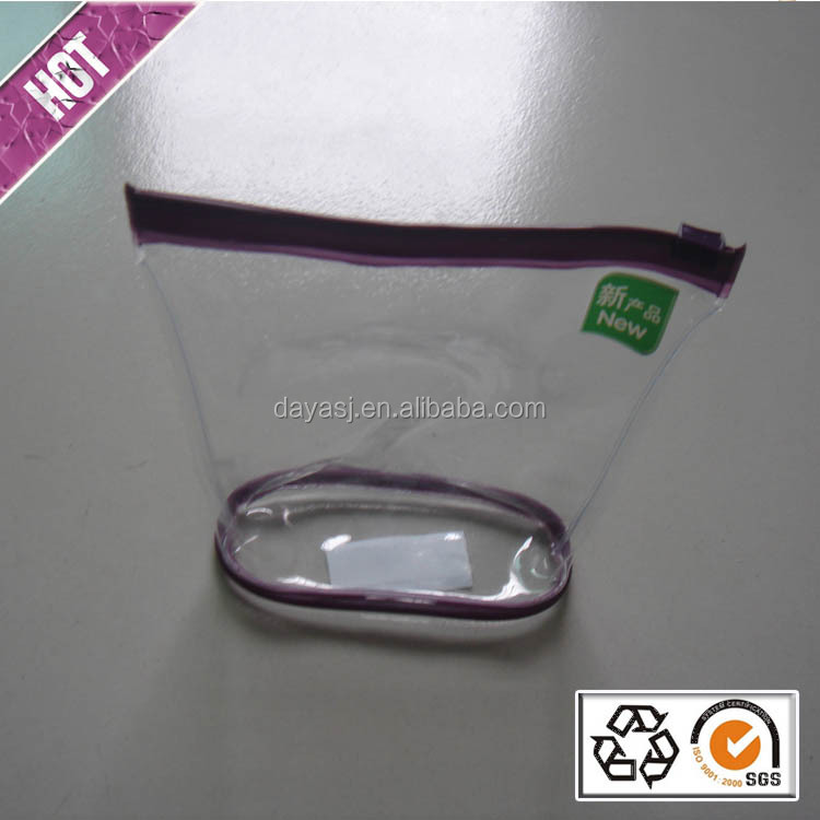 High Quality PVC Clear Cosmetic Bag New Design Waterproof Make Up Bags Clear Plastic Cosmetic Bags