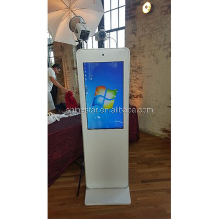 "32"" Inch LCD floor stand touchscreen self-service PC kiosk photobooth"