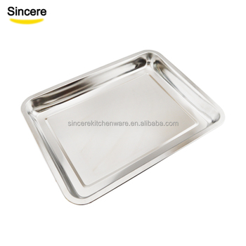 BBQ Stainless Steel Serving Tray for Hotel